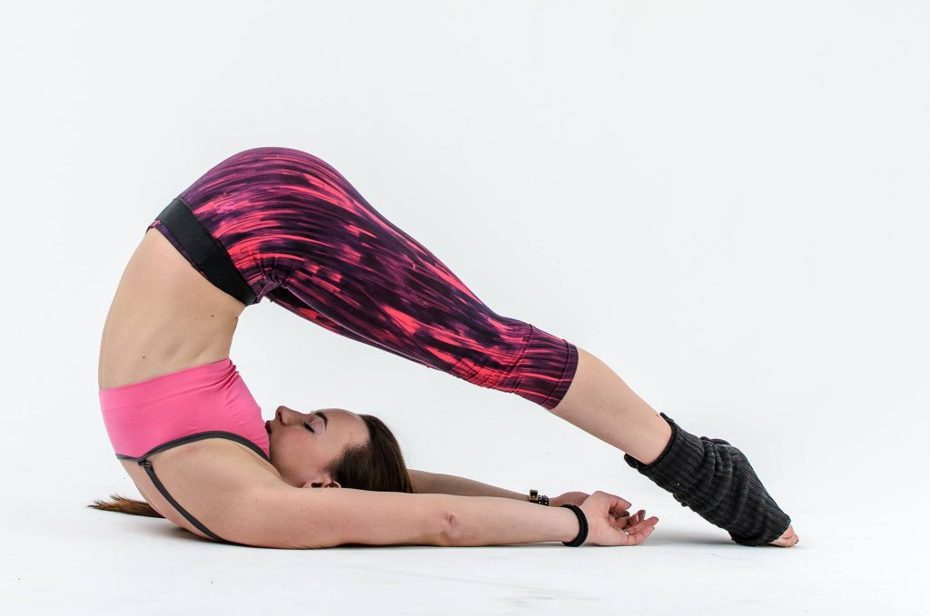 stretching the muscles of the back